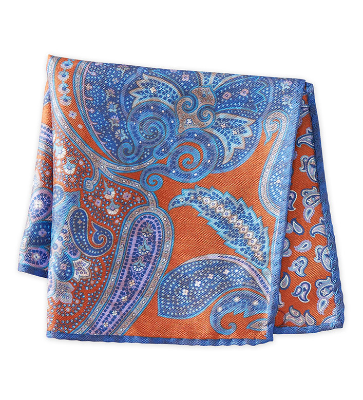 Patrick James Paisley Silk Pocket Square