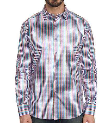 Calvert Stripe Long Sleeve Sport Shirt