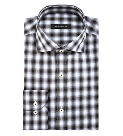 Ombre Check Long Sleeve Sport Shirt