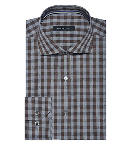 Fancy Check Long Sleeve Sport Shirt