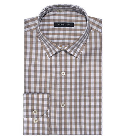 Gingham Check Long Sleeve Sport Shirt