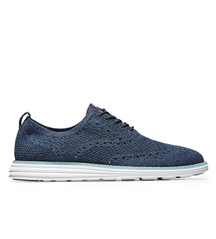 Navy Ink Wingtip Oxford Shoes