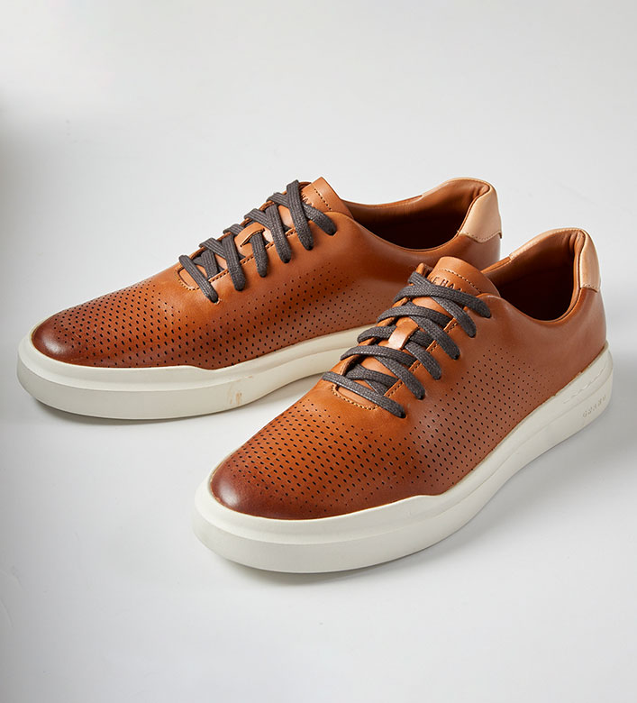 Cole Haan Tan Grandpro Rally Sneakers
