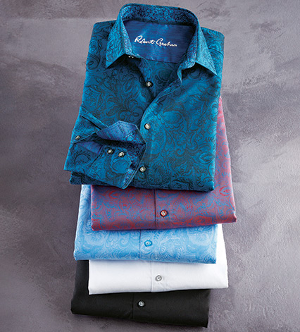 Andretti Paisley Long Sleeve Sport Shirt