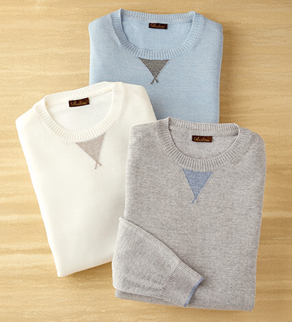 College Crew Merino Wool Sweater