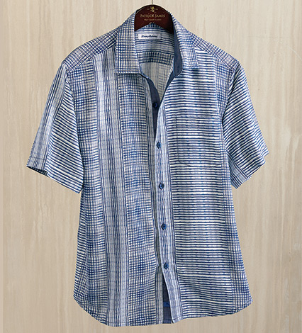 Bay Street Blues Short Sleeve Silk Sport Shirt
