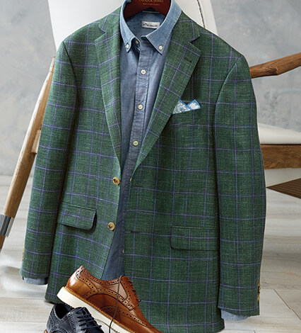 Green Windowpane Sport Coat