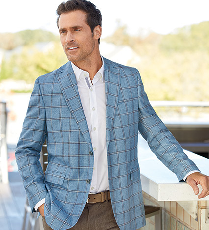 Bamboo Viscose Windowpane Sport Coat