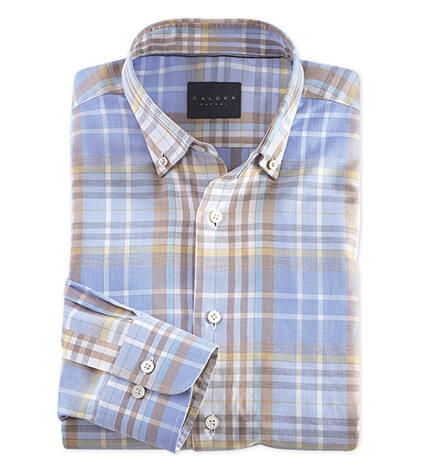 Exploded Plaid Long Sleeve Sport Shirt