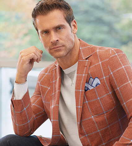 Red Windowpane Soft Coat