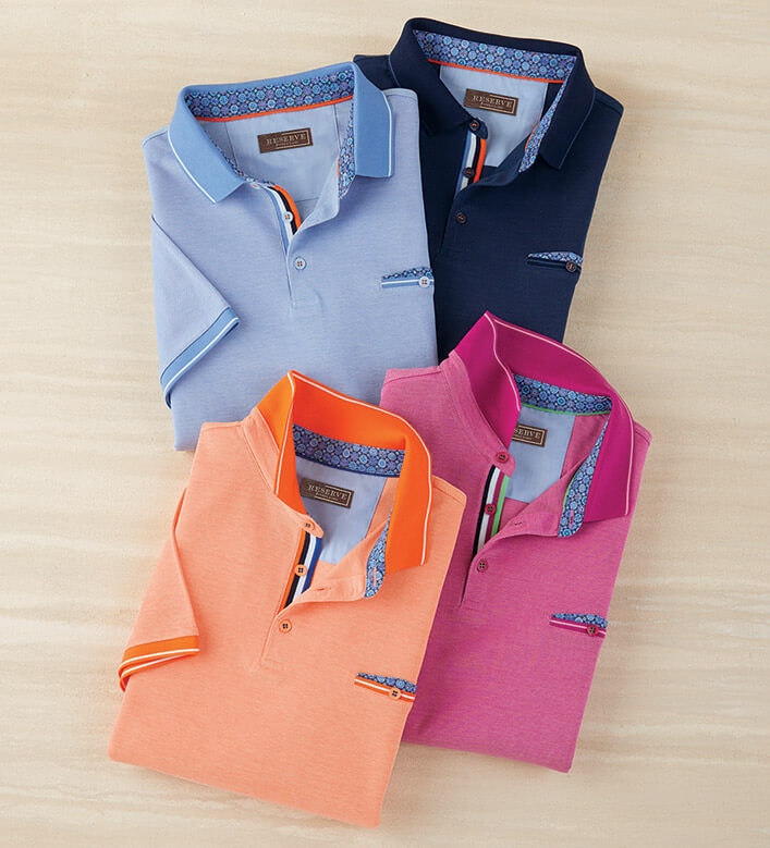Reserve Pique Knit Short Sleeve Polo Shirt