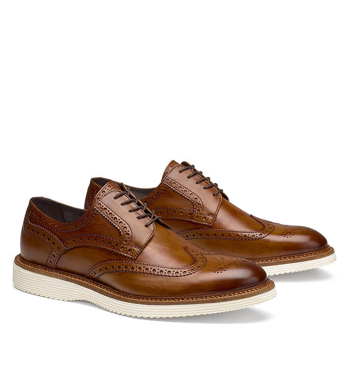 Trask Rogan Whiskey Wingtip Shoes