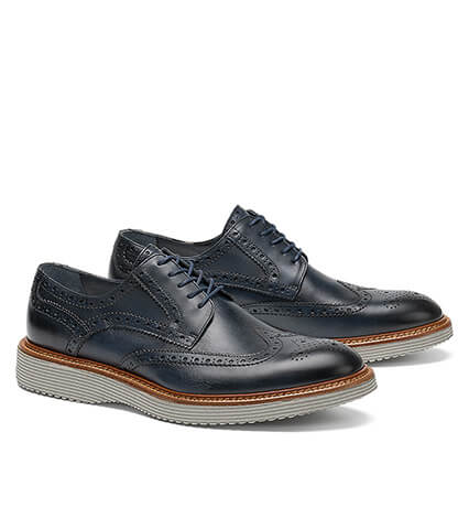 Rogan Navy Wingtip Shoes