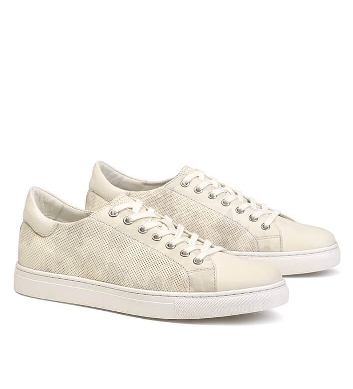 Trask White Alder Leather Sneakers