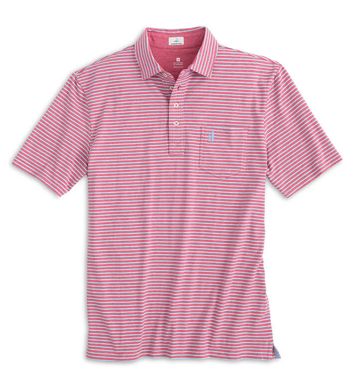 Johnnie-O Sean Stripe Short Sleeve Polo Shirt