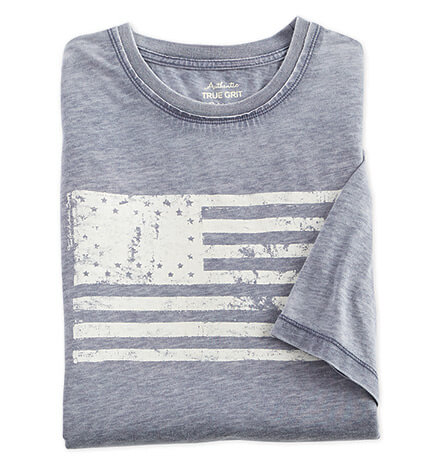 American Flag Burnout Short Sleeve Tee Shirt