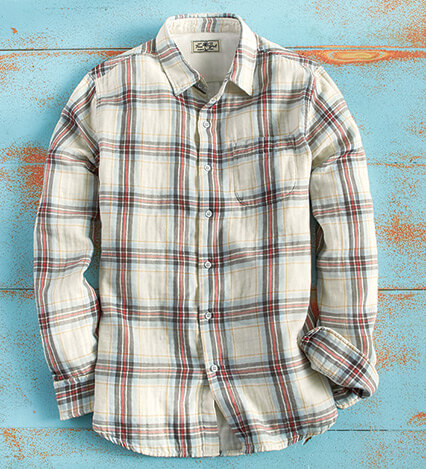 Surf Line Newport Plaid Long Sleeve Sport Shirt