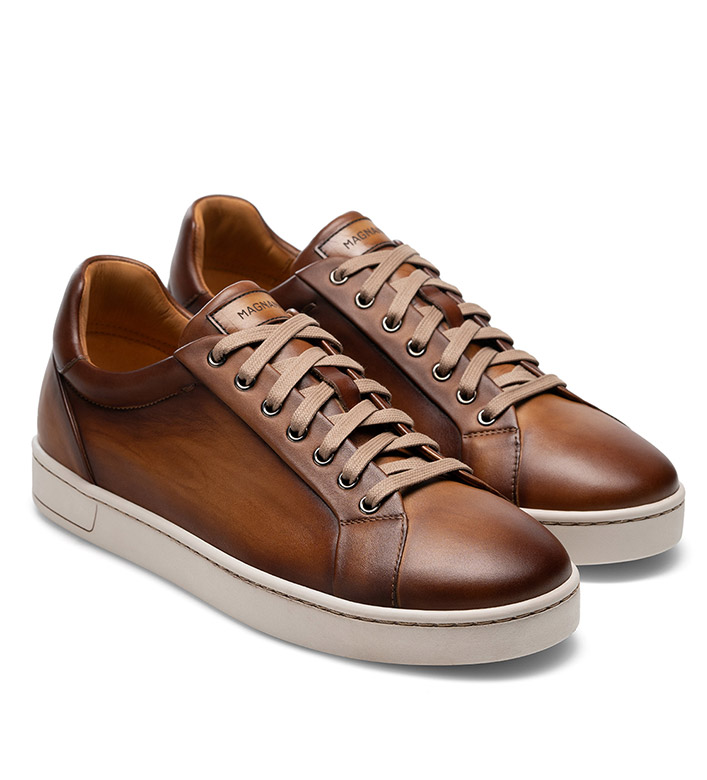 Magnanni Elonso Taupe Leather Sneakers