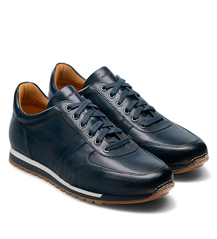 Ibiza Navy Leather Sneakers