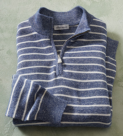 Wells Stripe Wool Linen Sweater