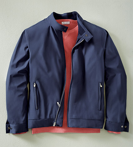 All-Weather Navy Bomber Jacket