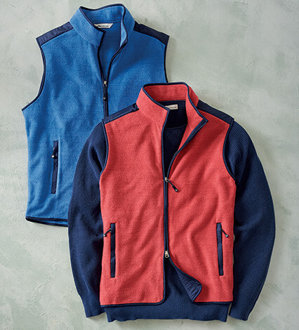 Seaside Microfiber Fleece Vest