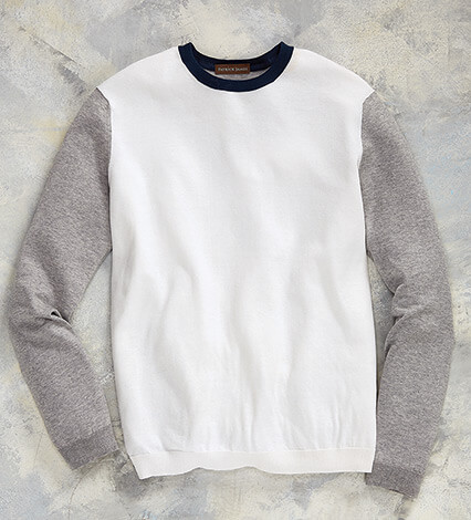 Colorblock Long Sleeve Knit Shirt