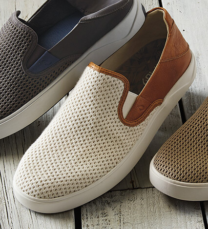 Lae'ahi Cotton Leather Slip-On Sneakers
