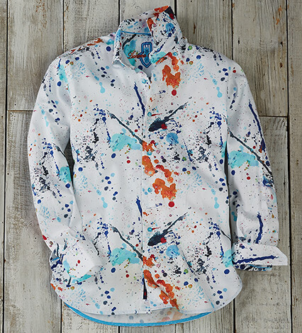 Splash Paint Long Sleeve Sport Shirt