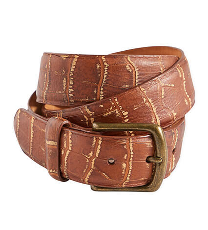 Crocodile Embossed Belt