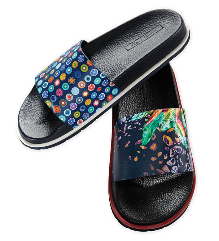 Robert Graham Recon Palm Paradise Slide Sandals