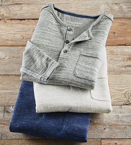 Coastal Canyon Long Sleeve Henley Shirt