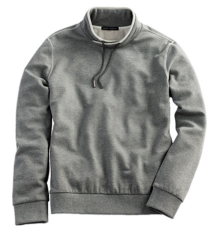 Contrast-Stitched Pullover