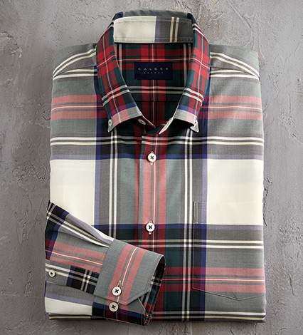 Tartan Long Sleeve Sport Shirt