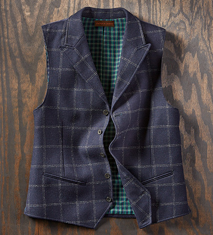 Italian Windowpane Vest