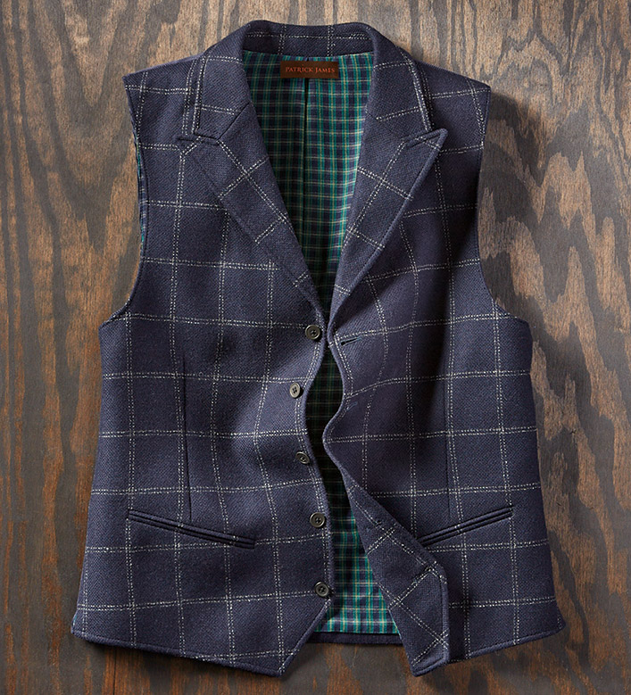 Patrick James Italian Windowpane Vest