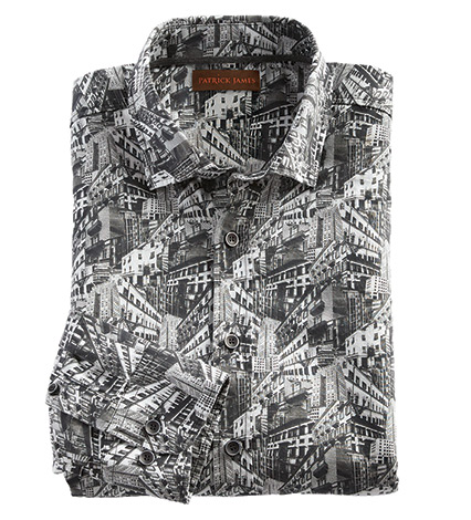 Cityscape Long Sleeve Sport Shirt