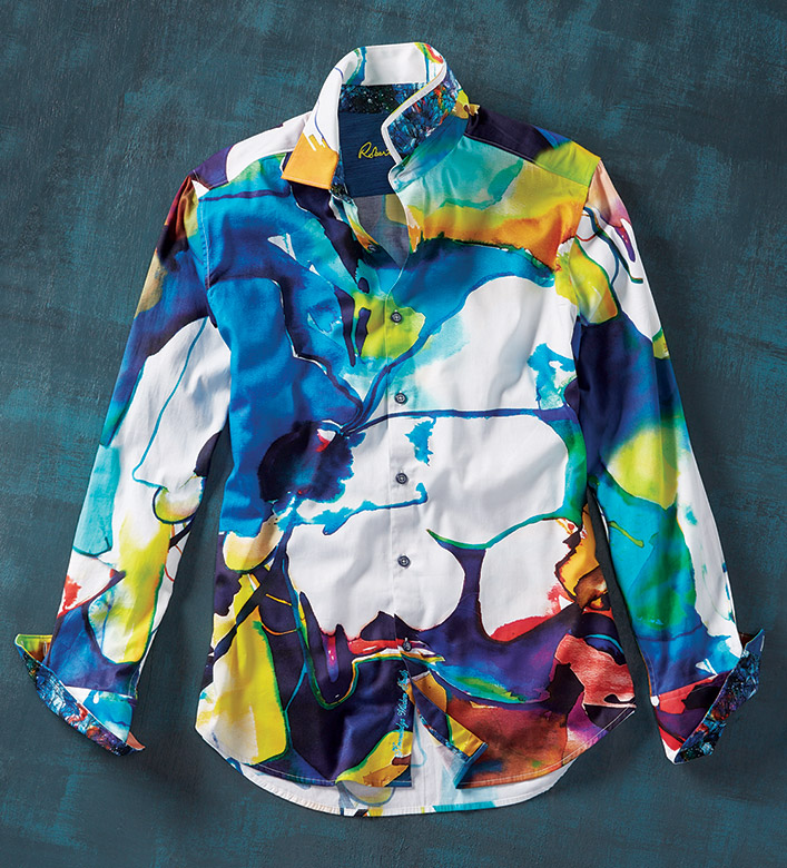 Robert Graham Lava Lamp Long Sleeve Sport Shirt