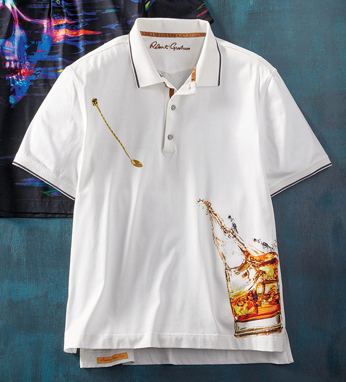 Robert Graham Skull On The Rocks Short Sleeve Polo Shirt