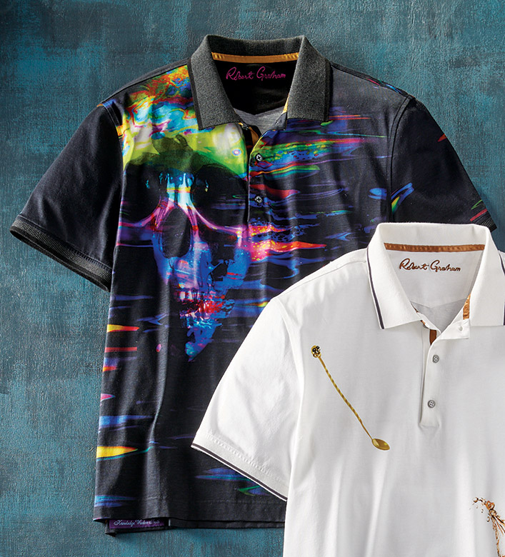 Robert Graham Vanish Skull Short Sleeve Polo Shirt