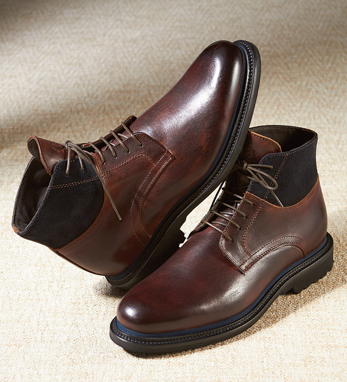 Martin Dingman Campania Hand-Finished Leather Boots