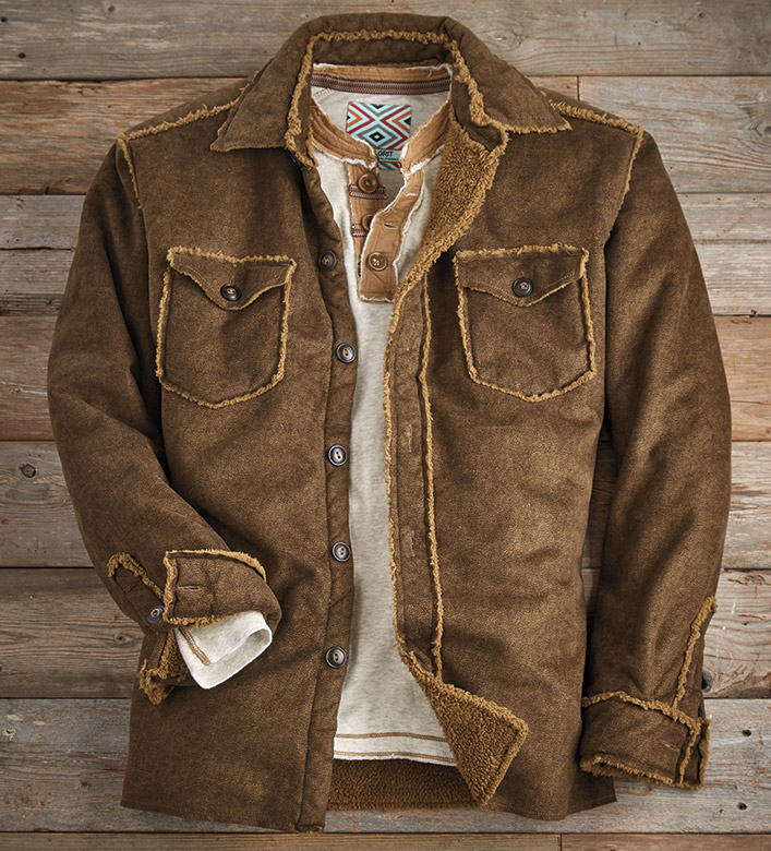 True Grit Soho Faux Suede Jacket
