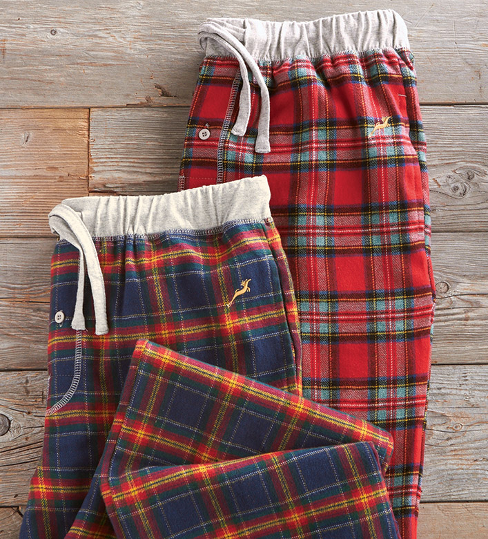 True Grit Stillwater Plaid Flannel Pants