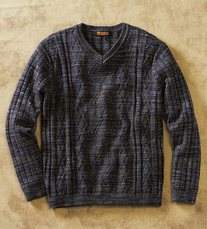 Lenor Romano Fisherman Cable Sweater