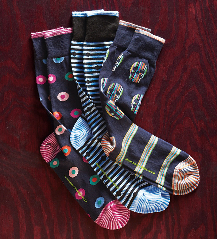 Robert Graham Illuminator Skulls Socks