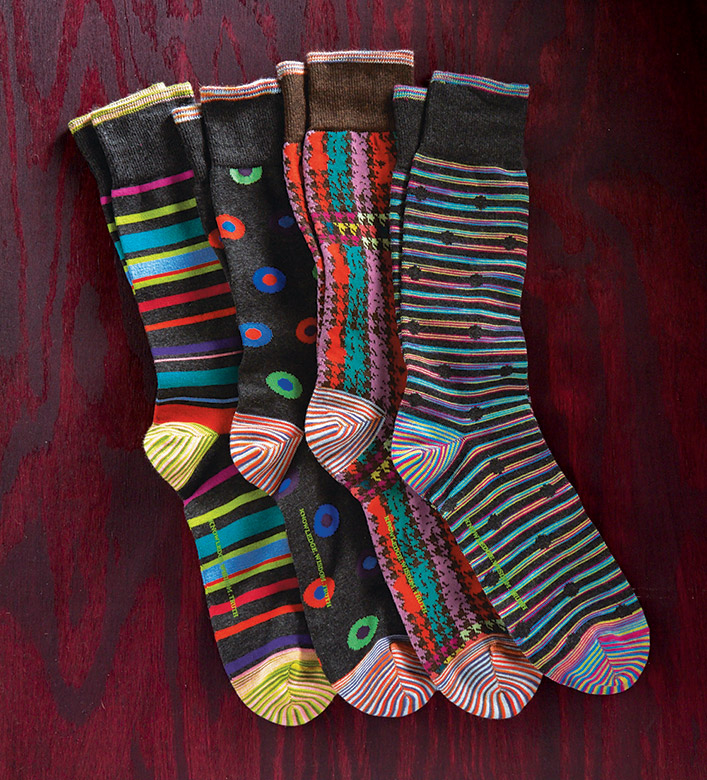 Robert Graham Radical Foray Circles Socks