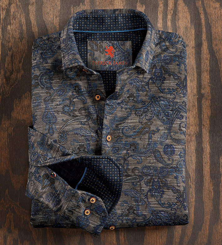 Patrick James Paisley Knit Shirt