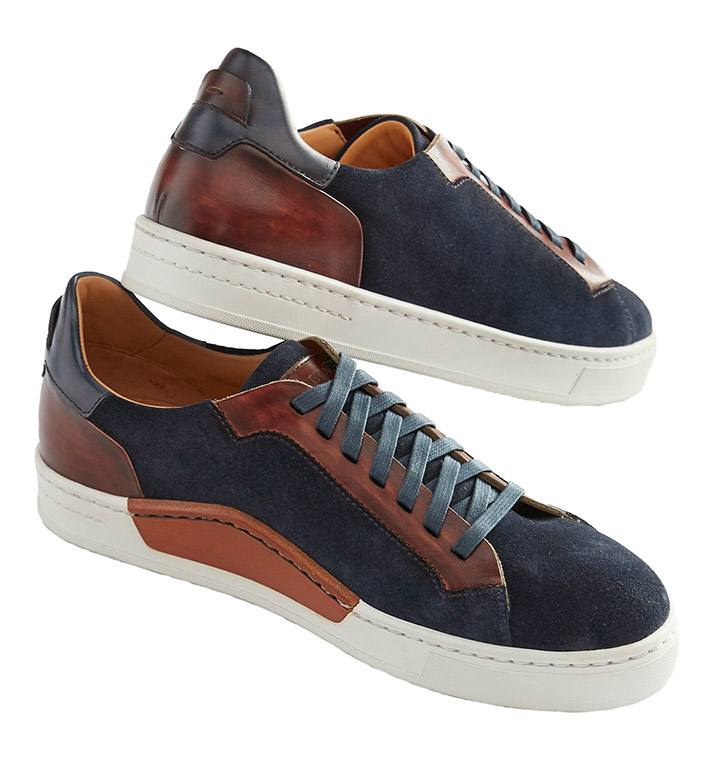 Magnanni Navy Suede Sneakers