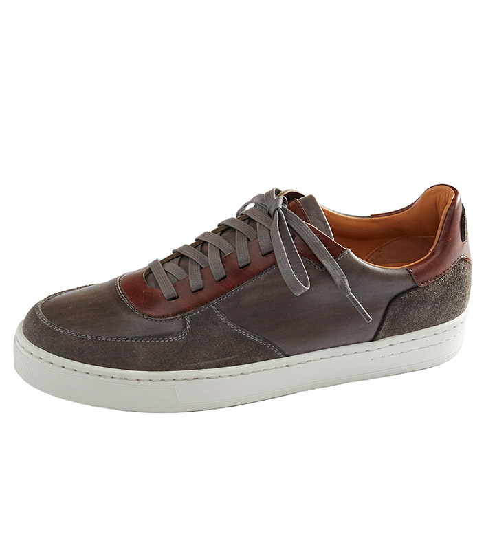Magnanni Grey Suede Sneakers