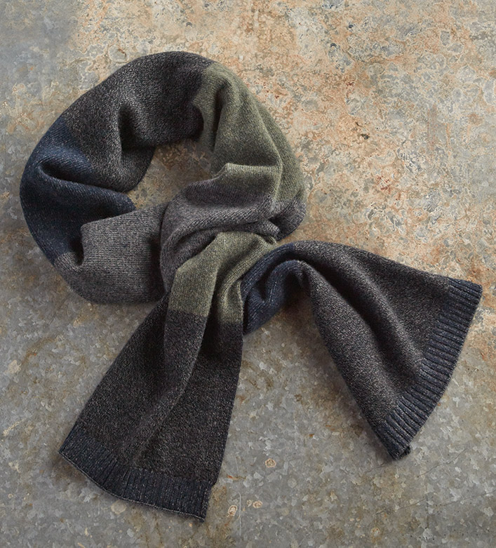 Patrick James Colorblock Cashmere Scarf